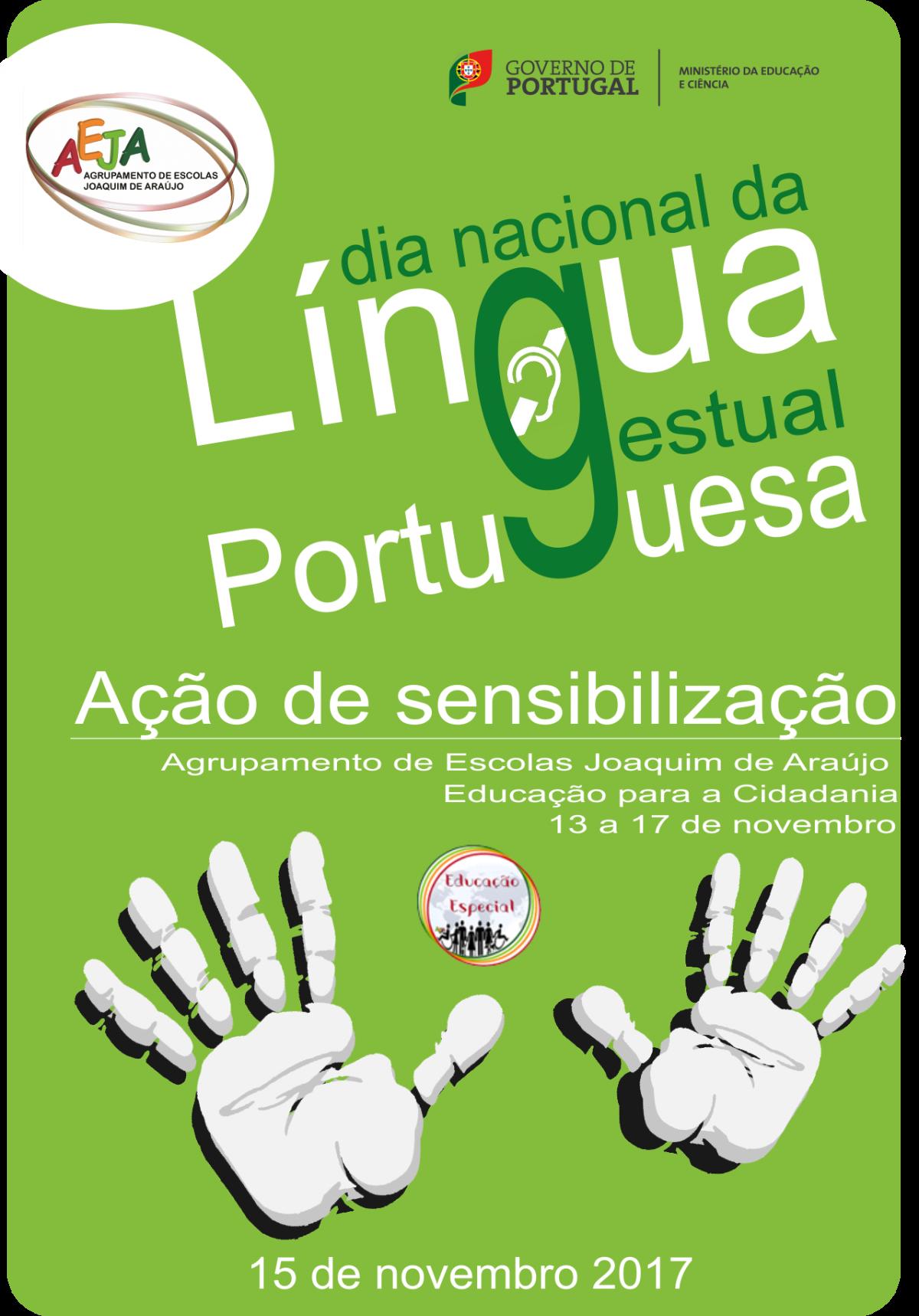 DIA NACIONAL DA LÍNGUA GESTUAL PORTUGUESA