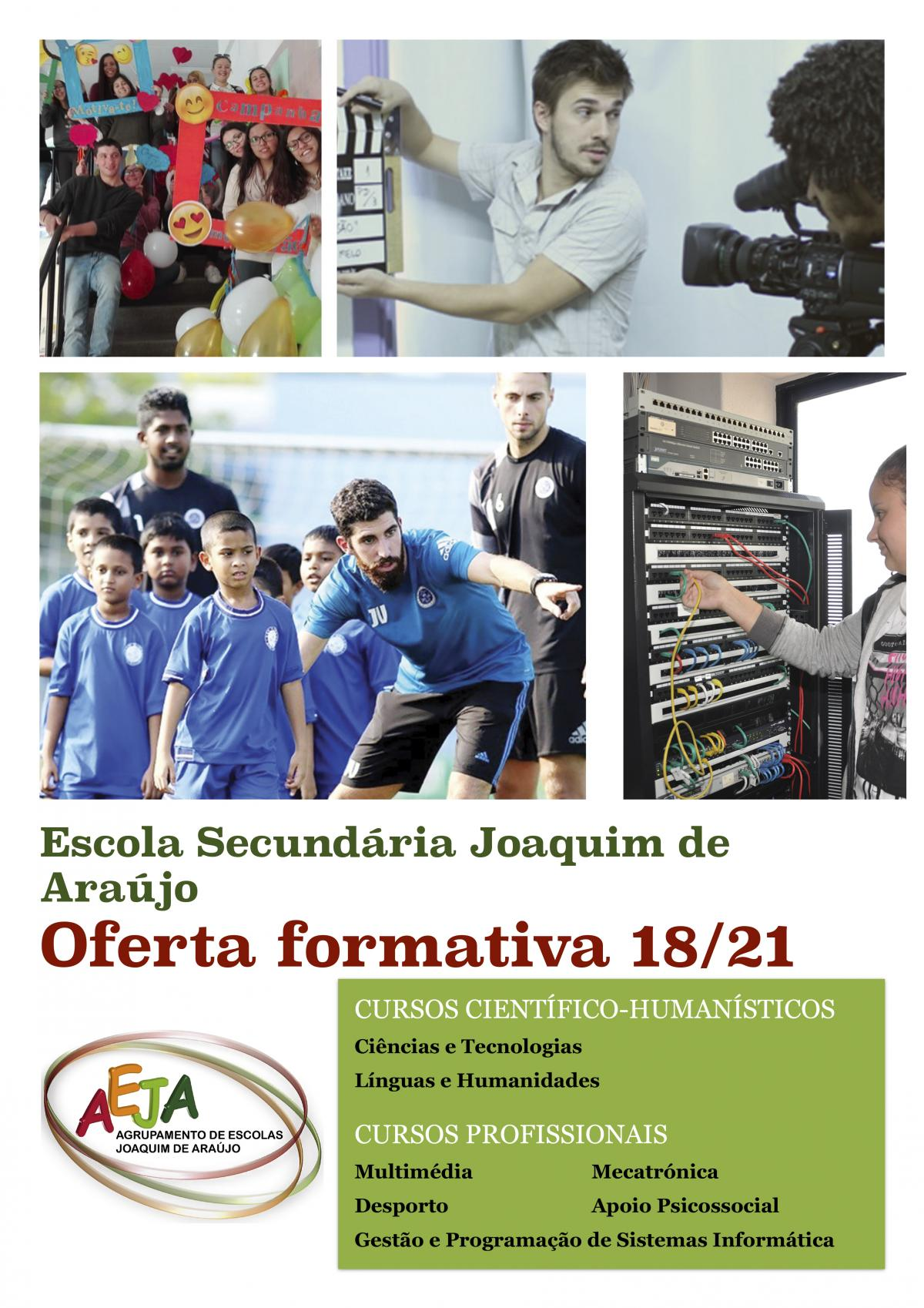Ensino Secundário - Oferta formativa 2018/2019