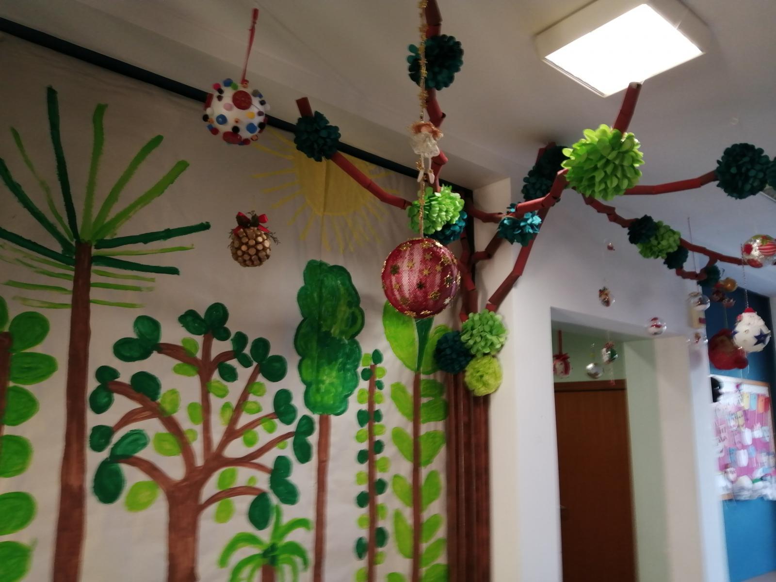 Exposição de Natal (bolas decoradas)