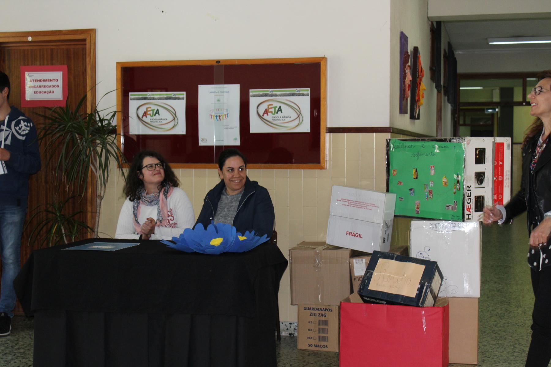 Cerimónia de entrega dos donativos para a Associação para o Desenvolvimento da Figueira